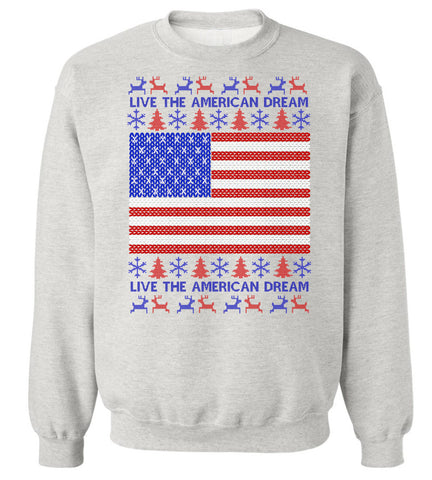 American Flag Christmas Sweatshirt