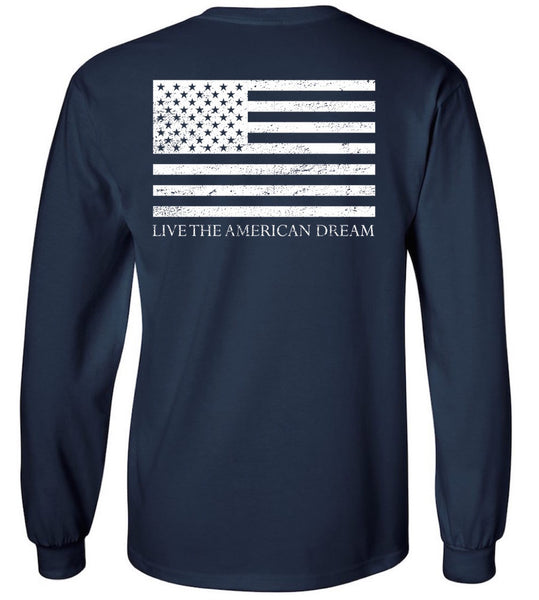 Navy Preppy & Patriotic Long Sleeve
