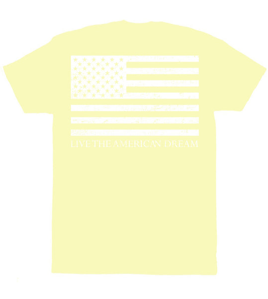Light Yellow 'Live the American Dream' Tee