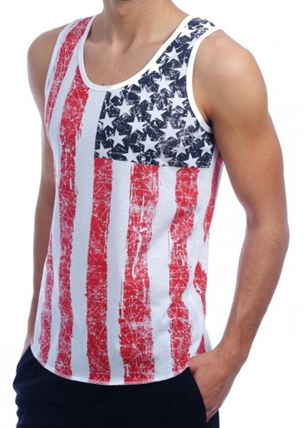 Distressed American Flag Fashion Tee