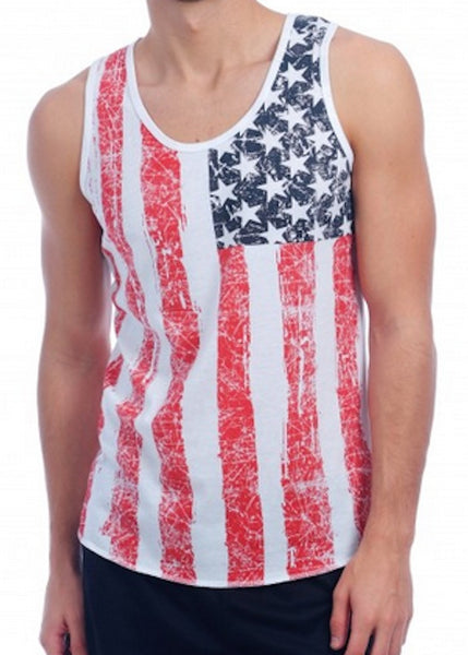 American Flag All OVer Tank Top