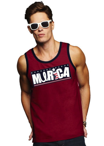 Murica Tank Top, United Tees 'U Logo'