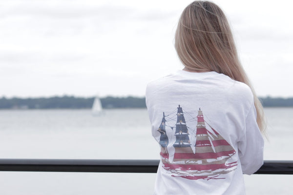 Preppy Sailboat Shirt- United Tees