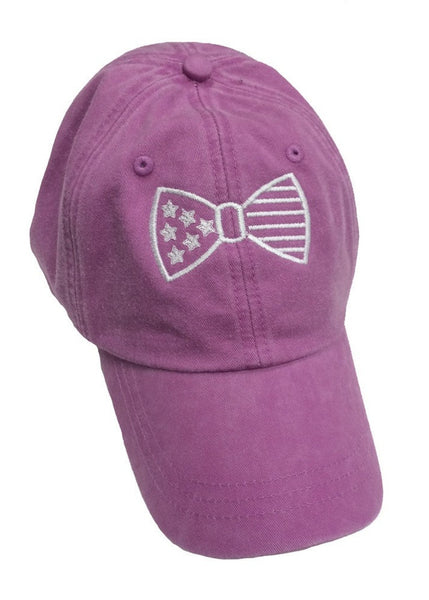 American Flag Raspberry Color Ladies Hat