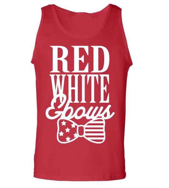 Red, White, Bows Tank Top
