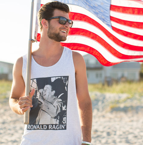 Reagan America Tank Top at the Beach