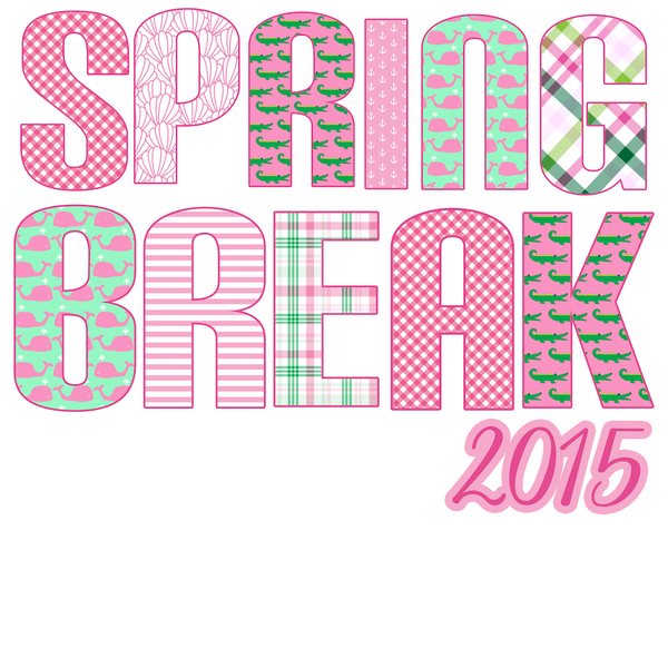 Spring Break 2015 made out of preppy Patterns