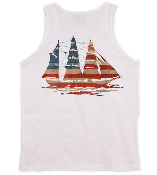 American Flag Preppy Tank Top