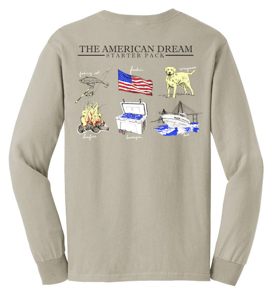 United Tees Preppy Sand Long Sleeve