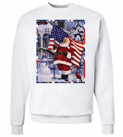 Santa Clause Loves America United Tees
