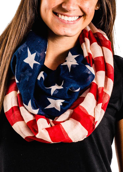 American Flag Beautiful Scarf