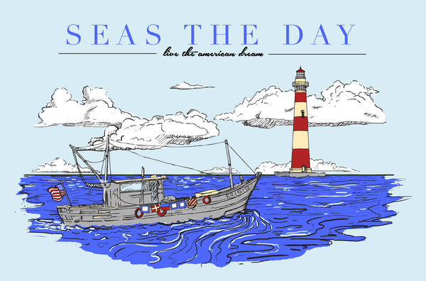 Seas the Day Preppy Nautical T-Shirt Design
