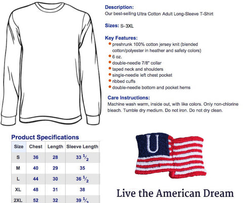 'Merica Est. 1776 Long Sleeve Tee