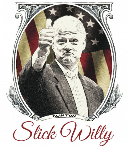 Slick Willy Thumbs Up American Flag Design