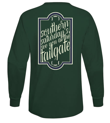 southern saturdays tailgate long sleeve tee