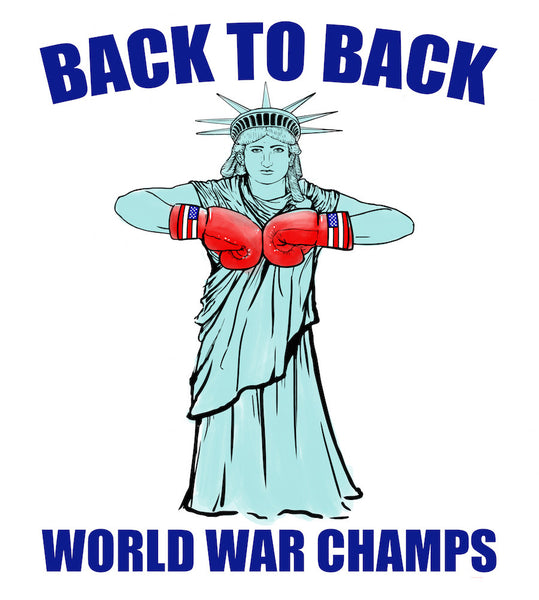 Back to Back World War Champs- United Tees