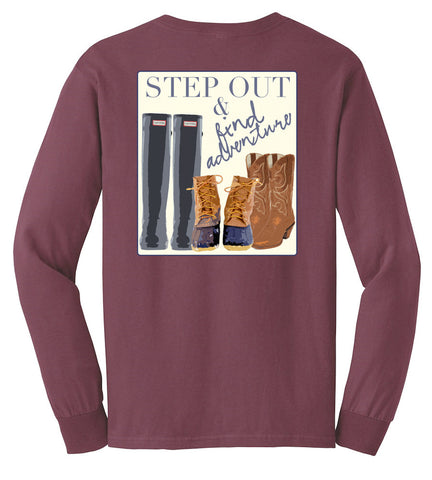 Preppy Long Sleeve- Step Out & Find Adventure