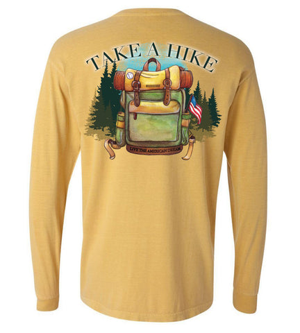 'Take a Hike' Preppy Long Sleeve Tee