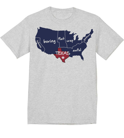 Map of american seen by texans!