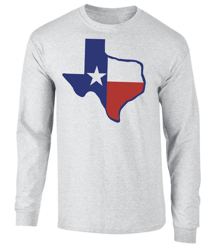 Texas Flag Long Sleeve United Tee