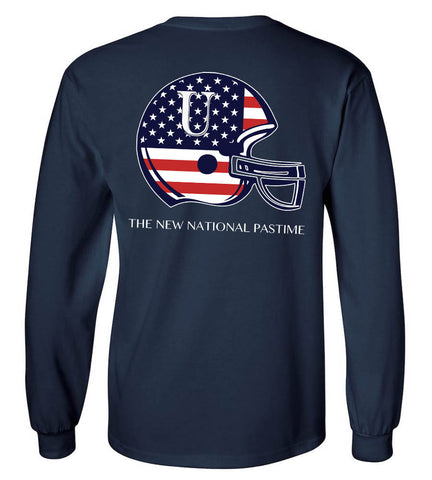 Football Helmet American Flag United Tees