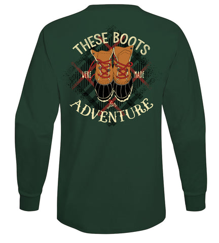 Boots Made for adventure Preppy Long Sleeve Tee