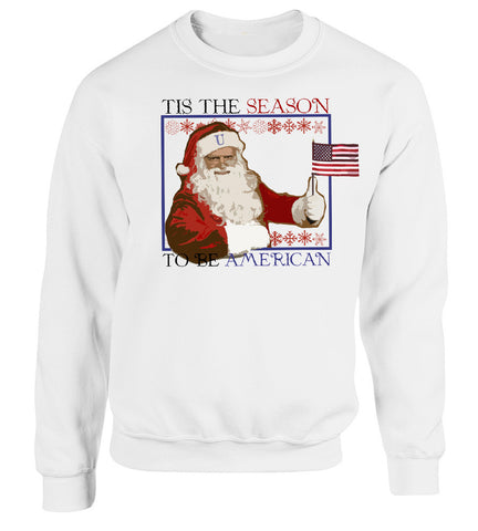 Santa Clause- Tis the Season- christmas sweatshirt