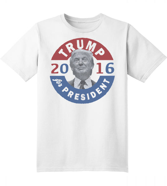 White T-Shirt Trump 2016 for President