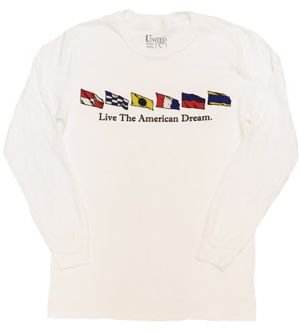 'Live the American Dream' Nautical Long Sleeve Tee