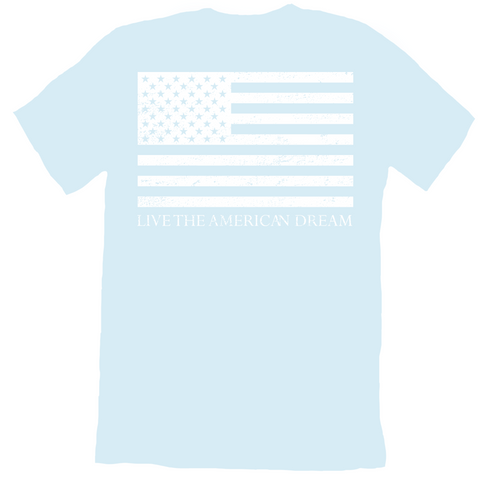 Light Blue 'Live the American Dream' Tee