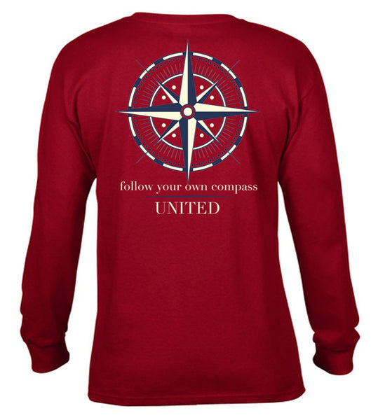 Follow Your Own Compass Long Sleeve Tshirt