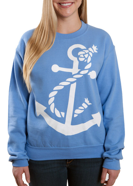 Carolina Blue Ladies Anchor Sweatshirt