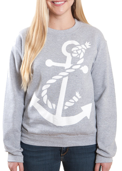 Sport Grey Anchor Sweatshirt United