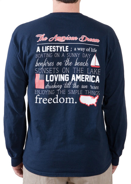 Preppy Shirt- American Dream Pocket Tee