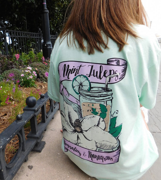 Mint Juleps & Monograms preppy southern girls tee