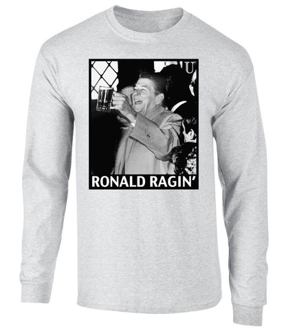 Ronald Reagan Partying Long Sleeve Tee