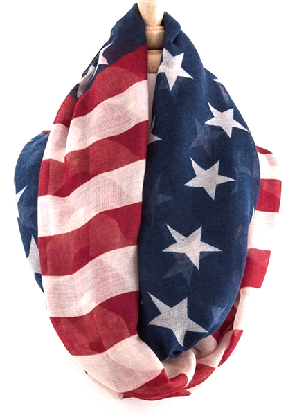 American Flag Infinity Scarf