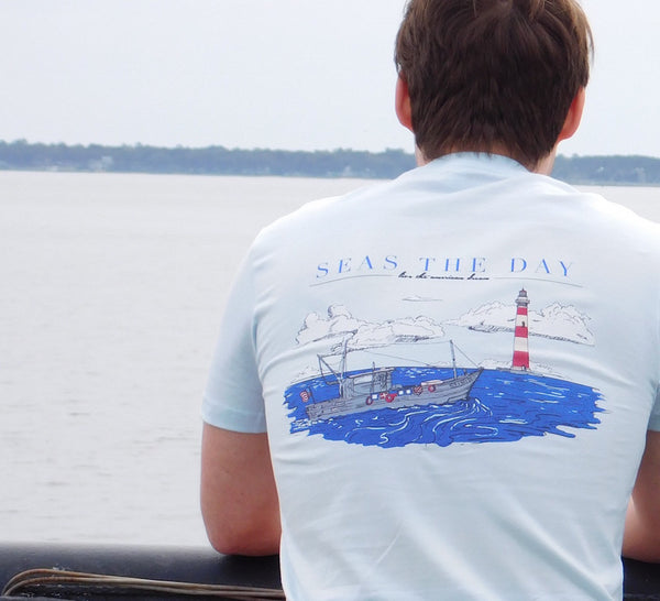 preppy nautical shirt- seas the day