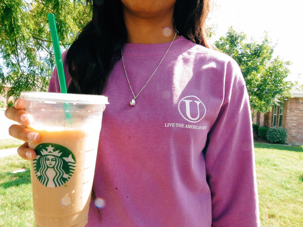 Preppy Girl with Starbucks