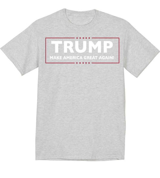 Grey Trump T-Shirt-Make America Great Again
