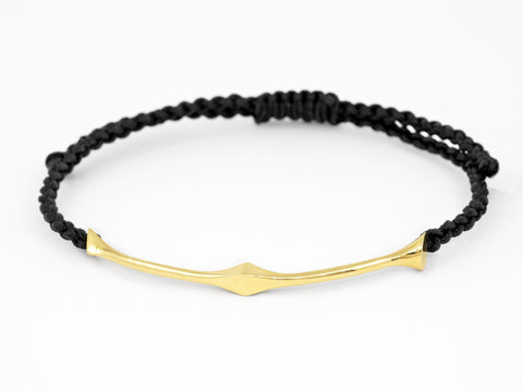 Trine unisex Bracelet - Gold and Cord