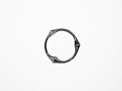 Trine Ring for Her - Polished - Rhodinated Black