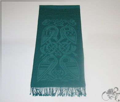 Dynasty green wool scarf
