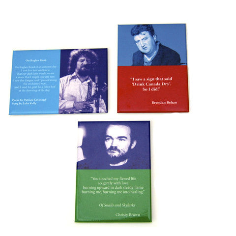 Irish writers magnet set