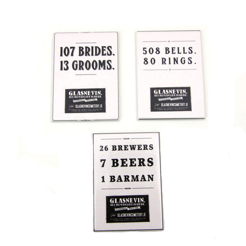 Brides, Bells and Barmans magnet set