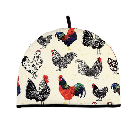 Rooster Pattern tea cosy