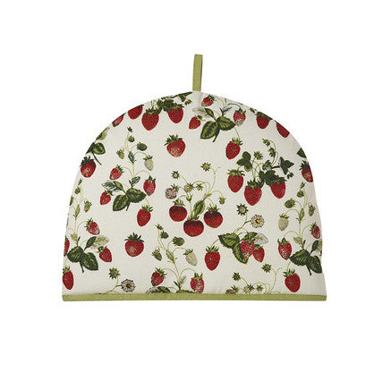 Strawberry pattern tea cosy