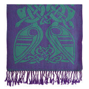 Purple/Green Celtic scarf