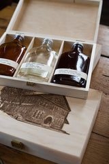 Kings County Distillery CLASSIC WHISKEY WOODEN BOX GIFT SET 3x 200ml