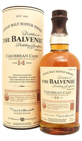 The Balvenie 14 Year Old Caribbean Rum Cask Single Malt Scotch Whisky 750ml